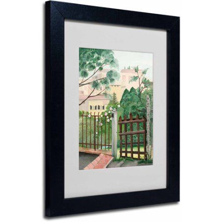 Trademark Fine Art Valley Home Canvas Art by Anonymous, Black Frame ...