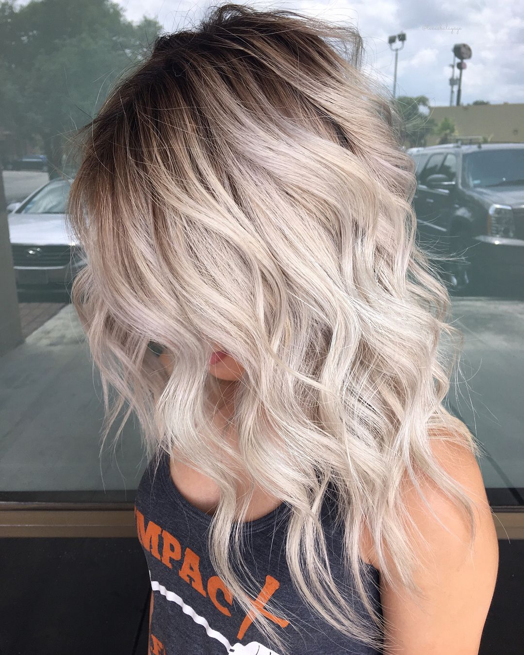 Iced Before During After Swipe Cool Light Blonde