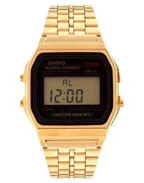 enlarge casio a159wgea 1ef gold digital watch jewellery enlarge casio a159wgea 1ef gold digital watch
