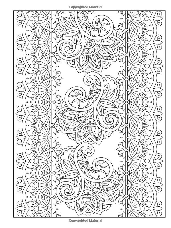 creative haven mehndi designs colouring book - Mehndi Coloring Pages