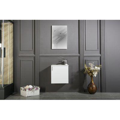 Orren Ellis Regina 20 Single Bathroom Vanity Set With Mirror Vanities And