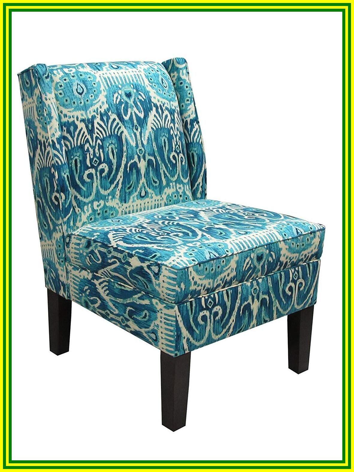 aqua blue accent chair