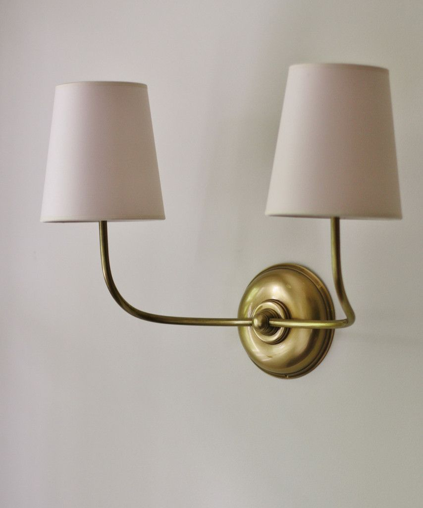 Vendome Double Wall Sconce, Antique Brass | Our Living Room ...