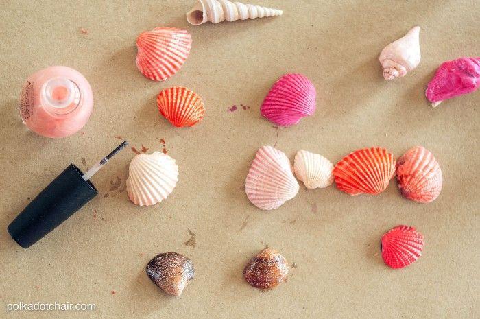 Seashell Crafts And Free Printable Gift Tags Seashell Crafts Diy Hair Accessories Crafts