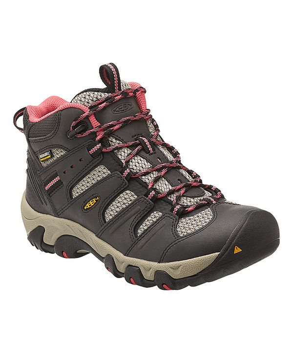 Look at this KEEN Raven & Slate Rose Koven Mid WP Leather Hiking Boot -  Women