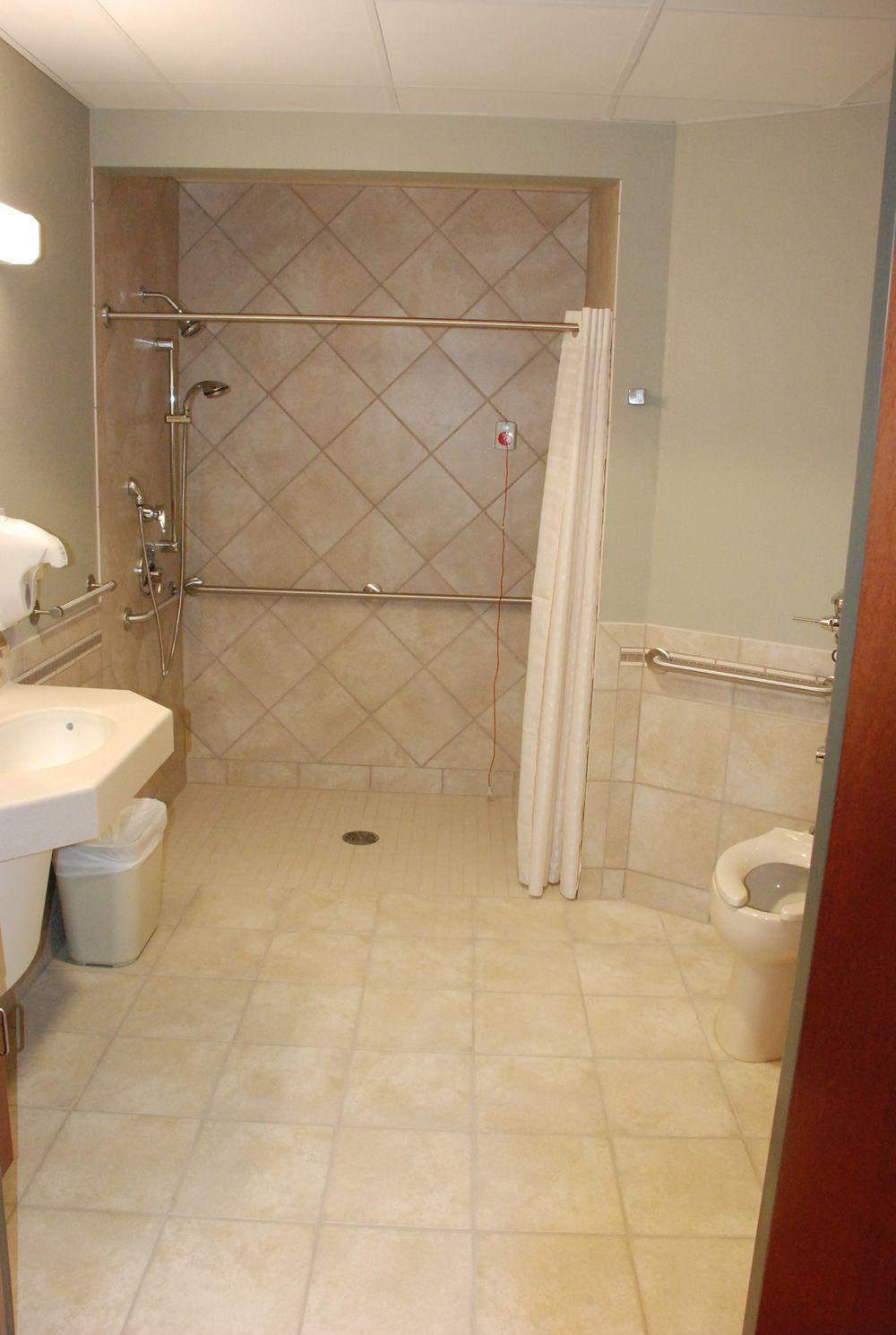 Zero Entry Shower Accessible Bathroom Accessible Bathroom
