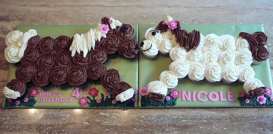 Pull apart cupcake horses Def doin this for Marybelles bday party