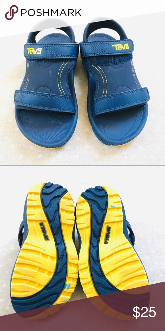 TEVA Boys Navy Blue Sandals sz US 12