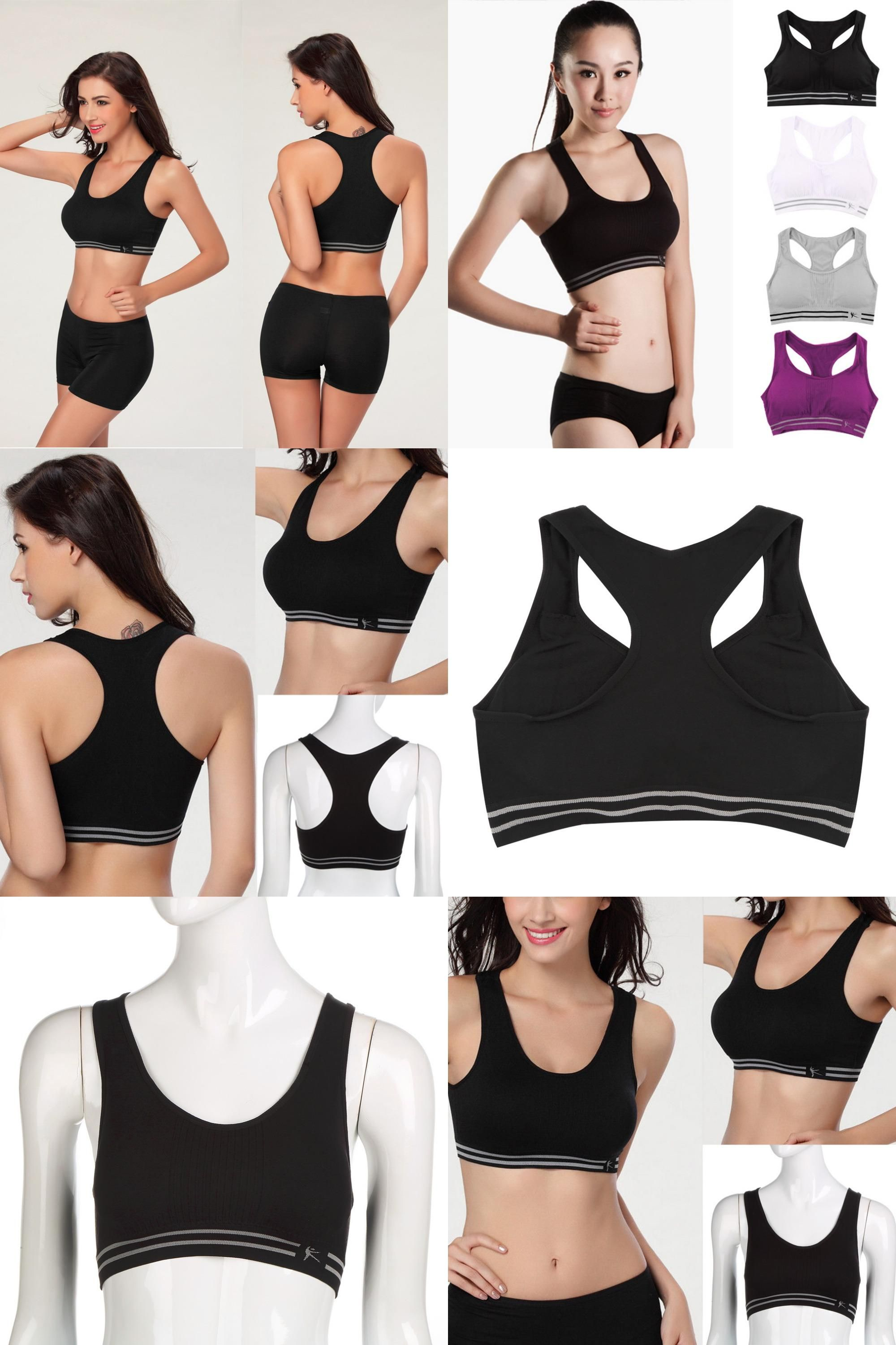 13b52d18503d9  Visit to Buy  Summer Style Women Cotton Stretch Athletic Vest Gym Fitness  Sports Bra