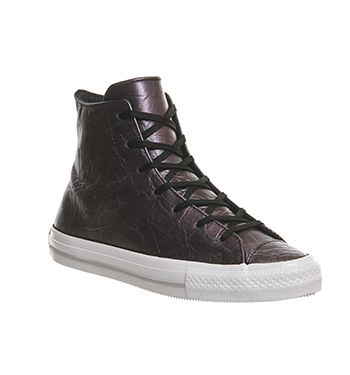 e50efd96332 Converse Ctas Gemma Hi Leather Black Foiled Exclusive - Hers trainers