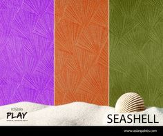 Now Experience The Calming Effect Of The Sea In Your Living Room With The New Seashell Effect From Wall Texture Patterns Wall Texture Design Wall Paint Designs