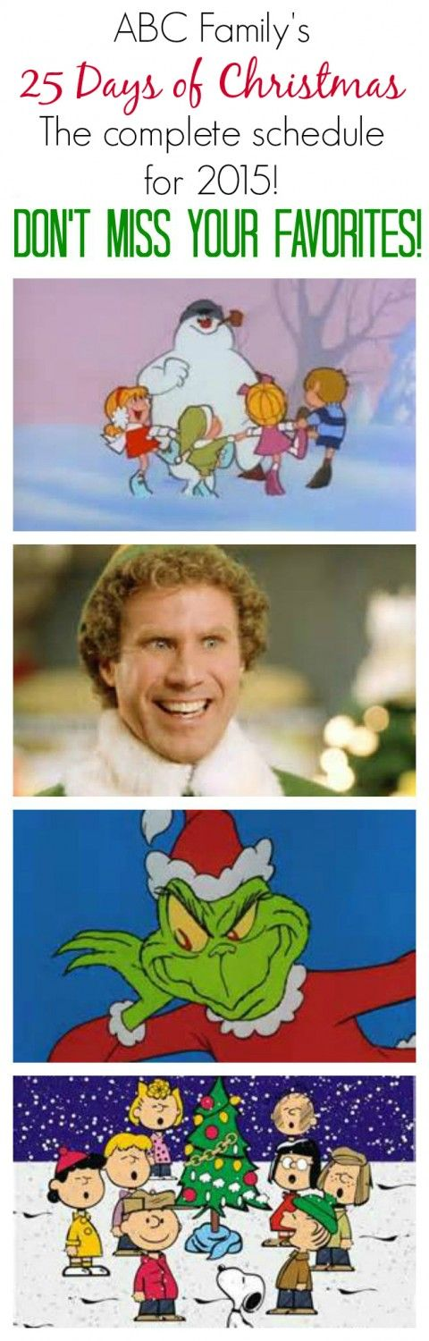 ABC Family's 25 Days of Christmas Schedule for 2015