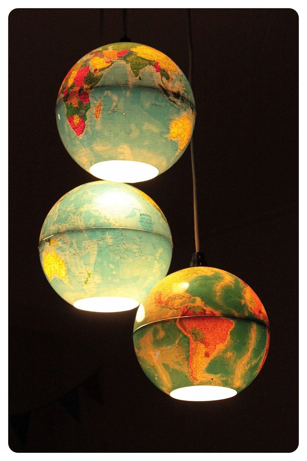 Diy Lampe Schlafzimmer Wereldbol Diy Lamp Luster Upcycling Lamps Lights