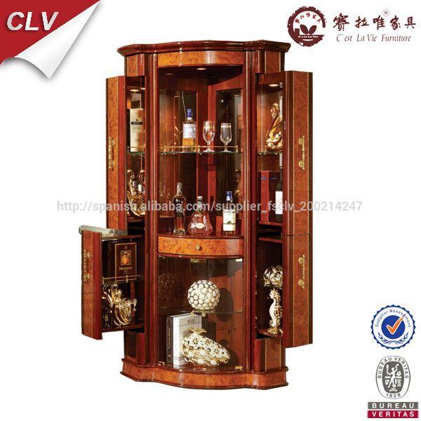Mueble bar esquinero armarios de madera identificaci n del for Mueble esquinero para pc