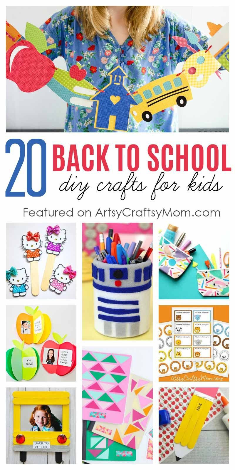 20 Awesome Back To School Crafts For Kids To Make And Gift Back