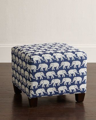 Garson Square Ottoman by John Robshaw at Horchow.