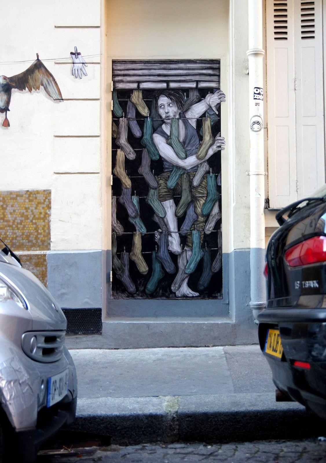 Levalet Sur La Corde Raide Installation En Duo Avec Philippe Hérard