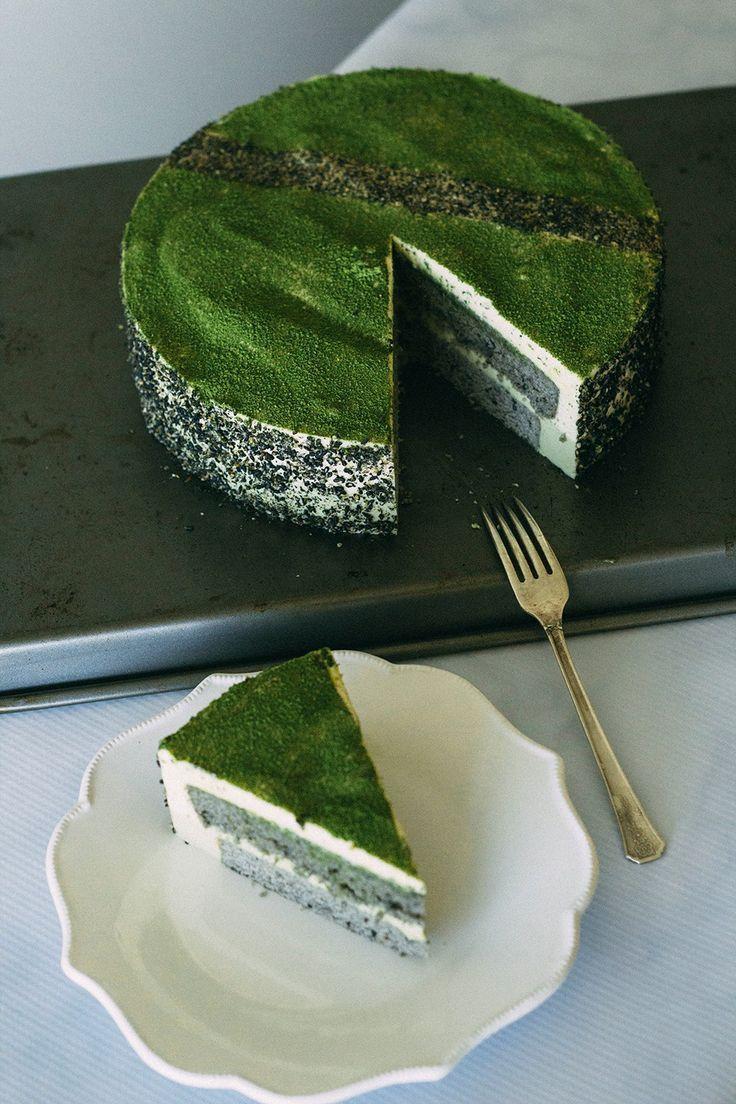 Black sesame matcha mousse cake forktobelly green tea
