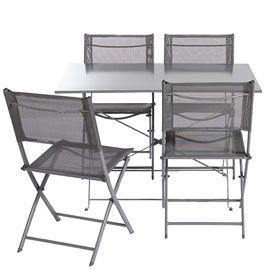Table De Jardin En Metal Saba 110 X 70 Cm Anthracite Chaise De Jardin En Metal Table De Jardin Chaise Jardin Metal Mobilier Jardin