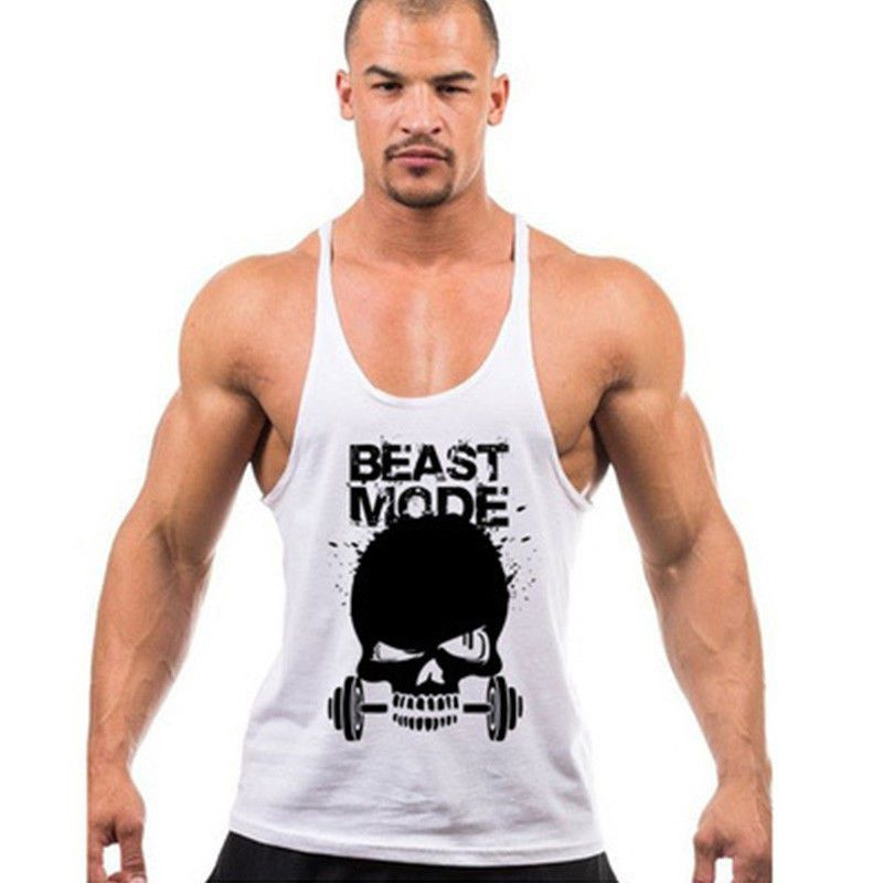 Workout Motivational Quote Black Zipper Vest Hoodie Sweatshirt Muscle Gym Beast