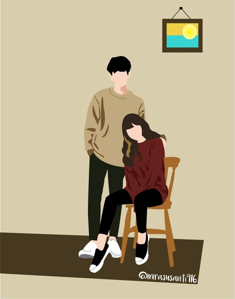 Wattpad Couple Animasi Art Ilustration Cover Dengan Gambar