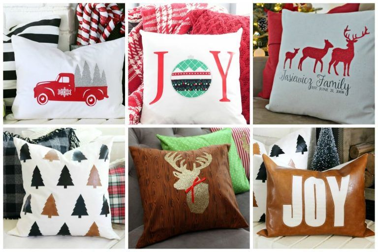 Cricut Christmas Pillow Projects Ideas For The Holidays Pillow Projects Christmas Pillow Pillows