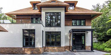 rietgedekt rieten kap villa naarden landelijk bosrijk klassiek modern landhuis