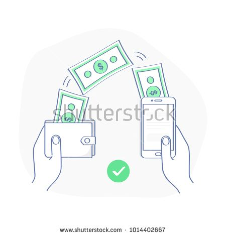 People sending and receiving money wireless with from wallet to