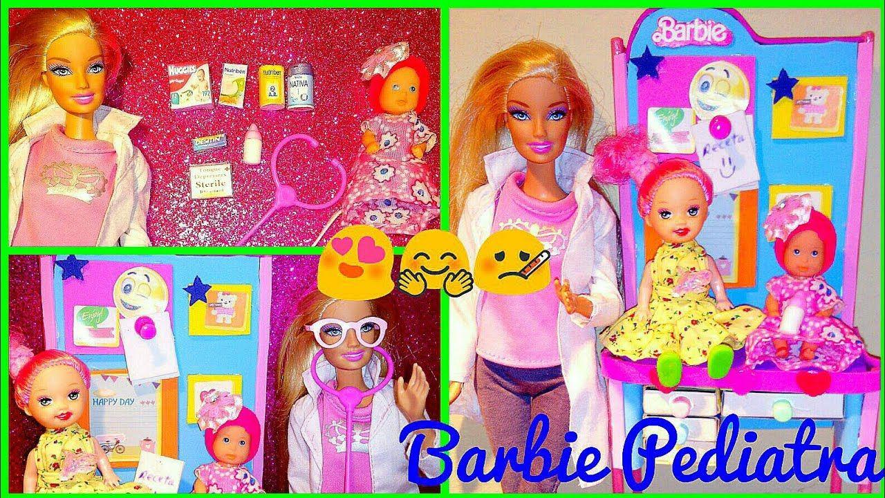 Barbie Pediatra Como Hacer Accesorios Mueble Y Miniaturas Para Muñecas Youtube In 2020 Barbie Make It Yourself Howto