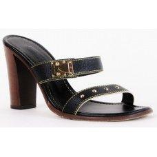 Louis Vuitton Black Suhali Heels
