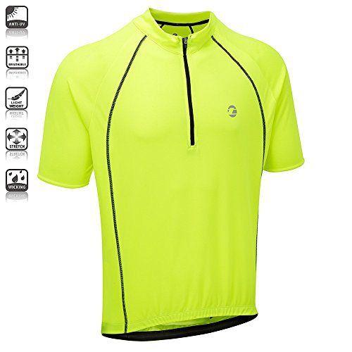 3760b0c7b Tenn Mens Sprint S S Cycling Shirt Jersey - Hi-Viz Yellow - http ...