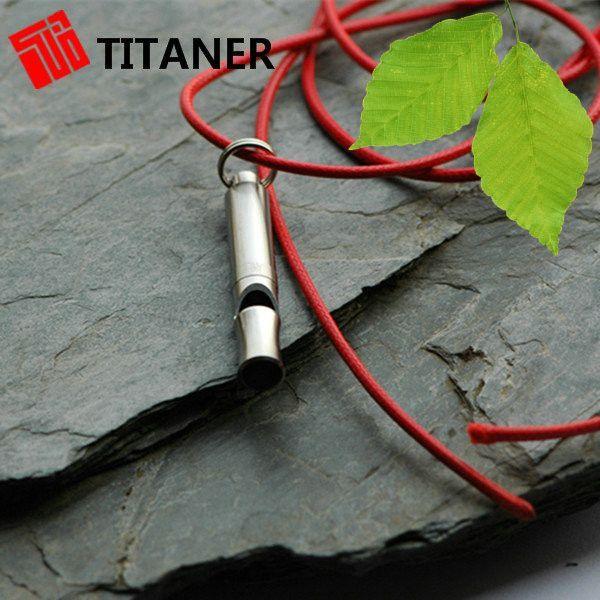 EDC GEAR Titanium # Round 120 Decibel Titanium Survival Whistle