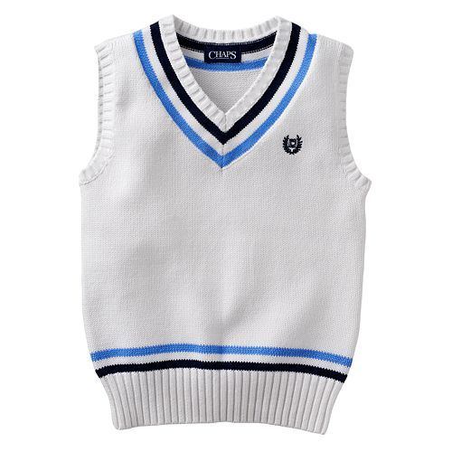 Chaps Sweater vest from Kohls $18 - Navy & Blue stripes. This ...