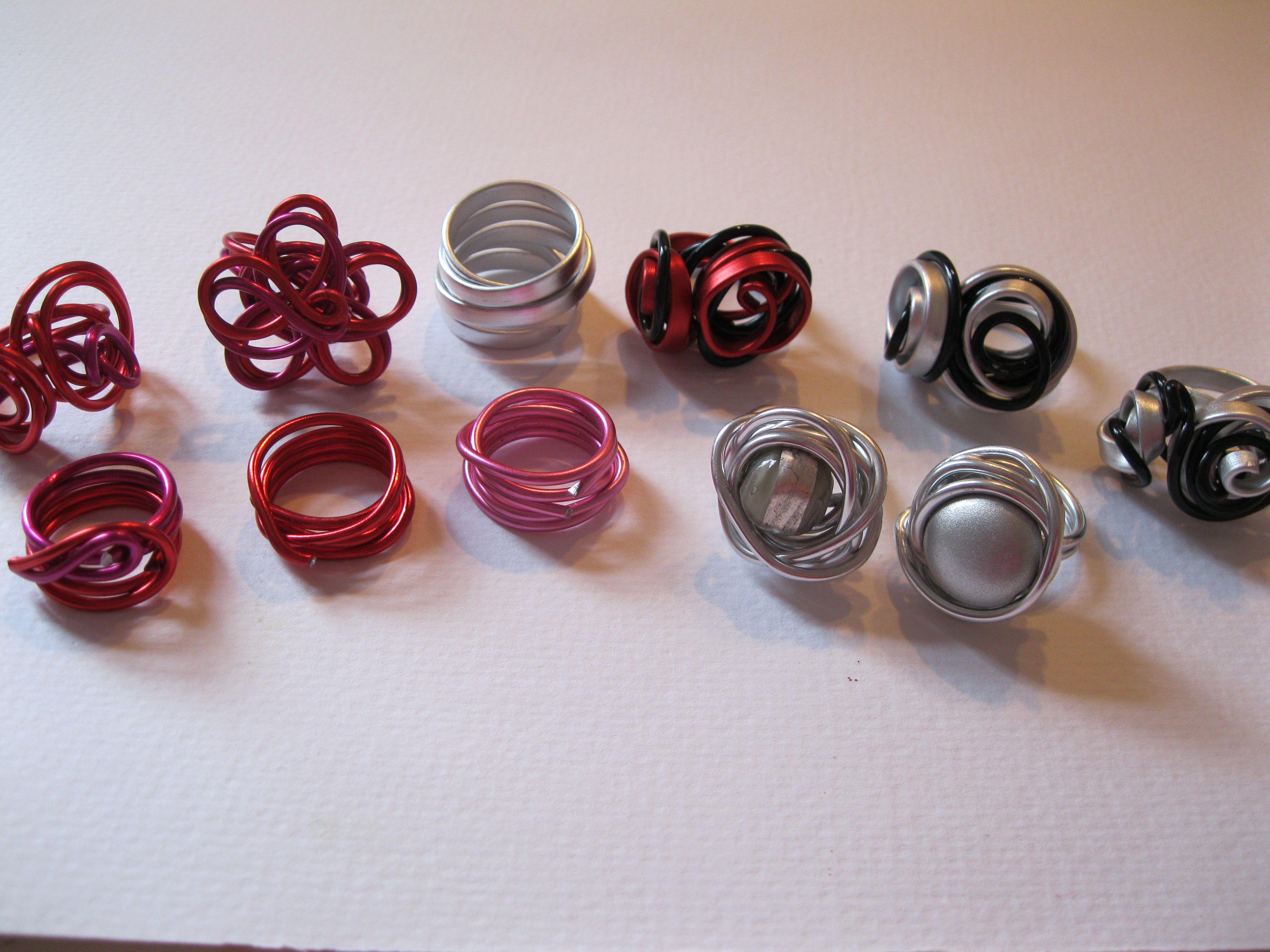 Ringen, supermakkelijk te maken met aluminium spul!   Get Inspirated!   Pinterest   Wire, Tes