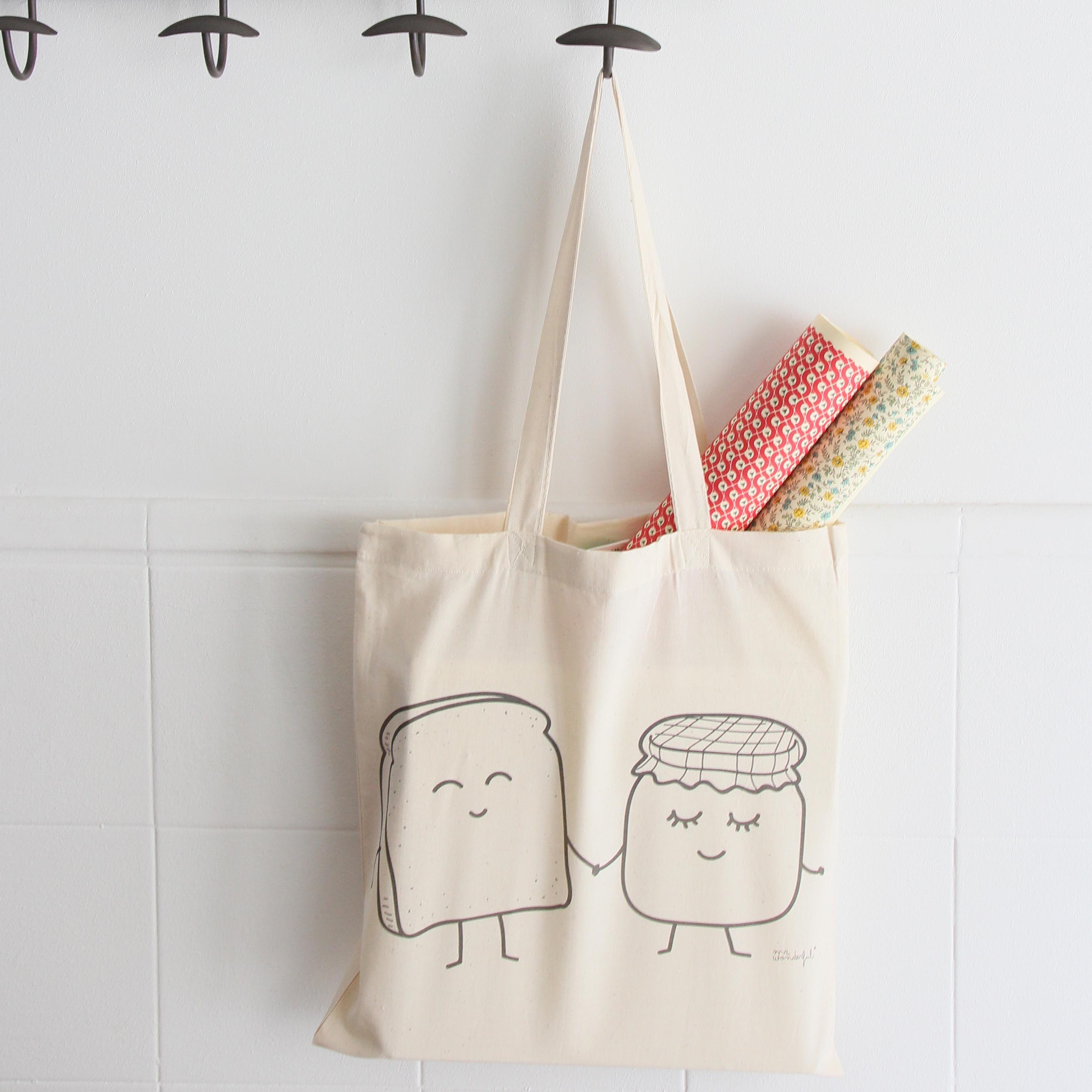 Nuevas bolsas de tela (tote bags) para moririse de bonitas y