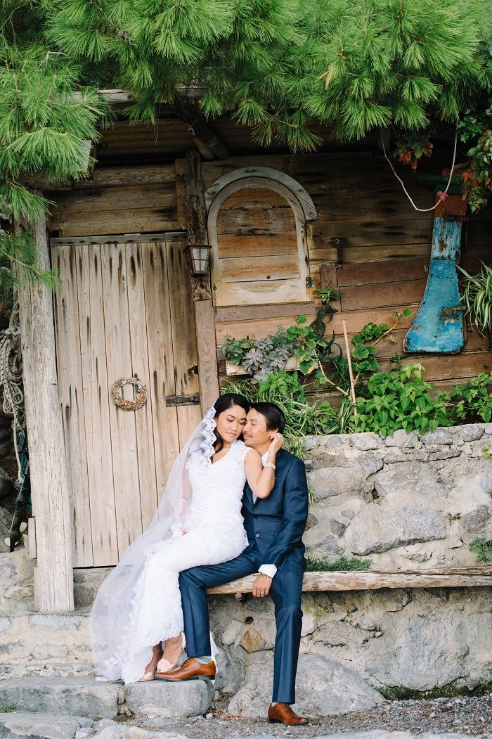 Breathtakingly Romantic + Beautiful Positano Elopement and Her Alfred Angelo Wedding Dress | Fab Mood #fabmood