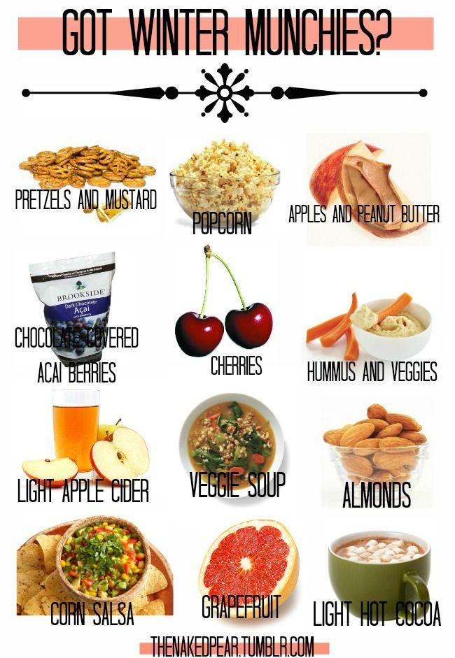 Winter Munchies Healthy Alternatives