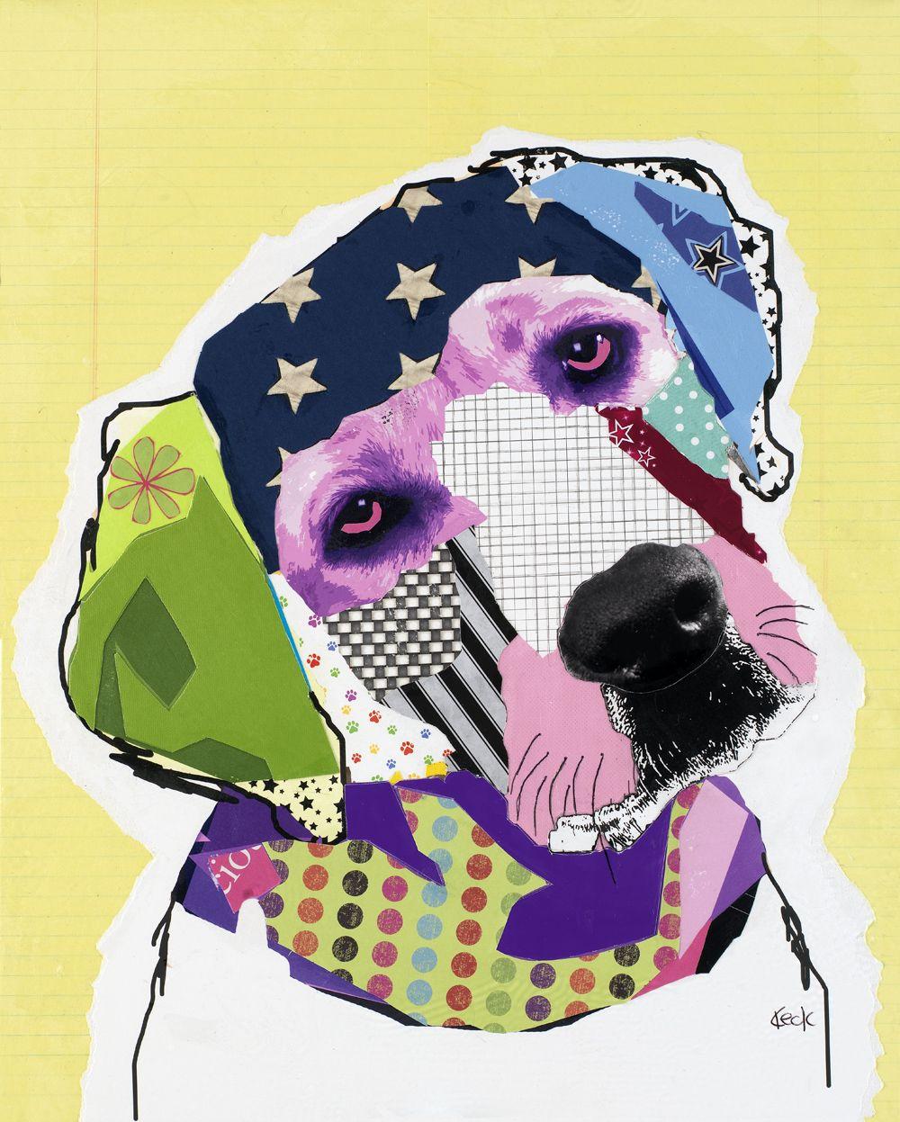 Dog Art Labrador Dog Pop Art Collage Dog Pop Art Pop Art