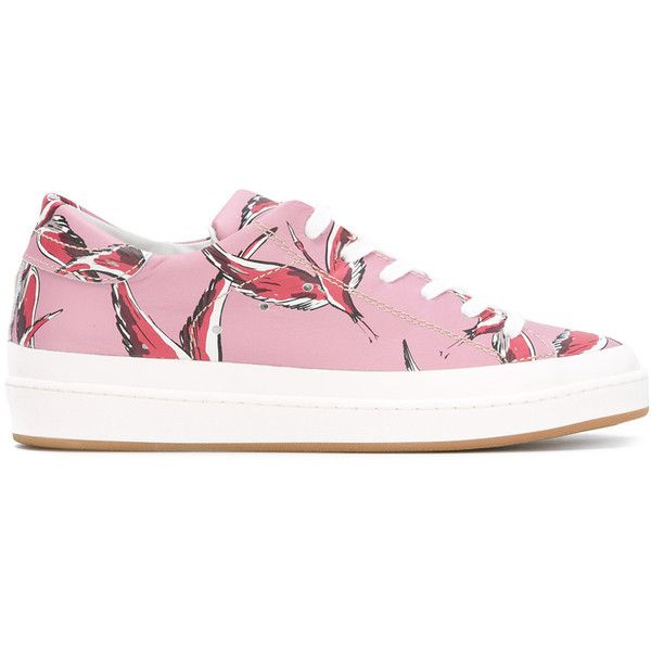 Philippe model Flamingo print trainers LeXI2Tw7