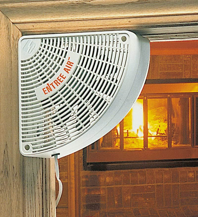 Corner Doorway Fan With 10 Cord Fireplace Accessories Tools Window Fans Wood Stove Fireplace Accessories