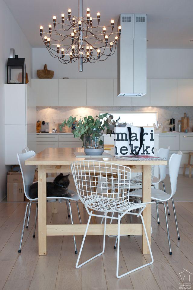 Valkoinen Harmaja  My home  Pinterest  Keittiö