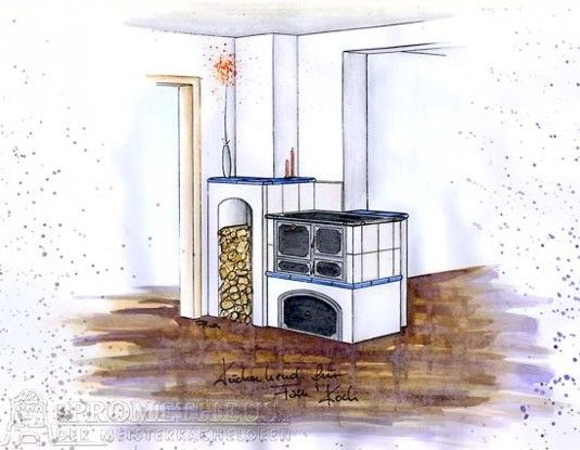 Küchenherd mit Backofen