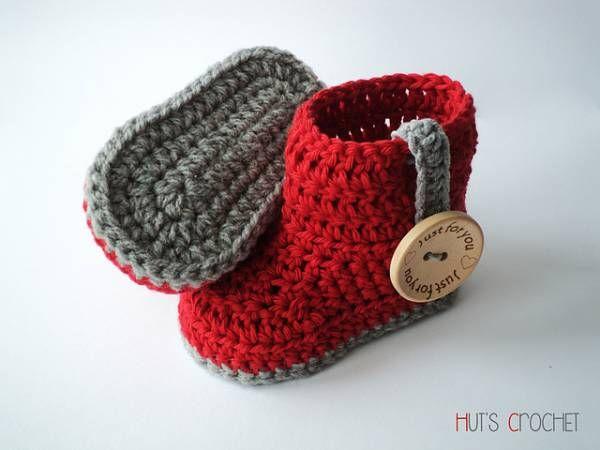 Free Pattern – Huts Amore Baby Boots | Stricken häkeln ...