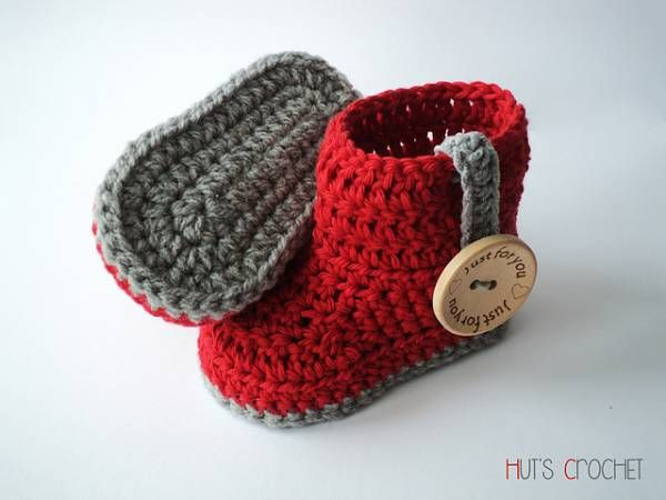 Free Pattern – Huts Amore Baby Boots | Crochet | Pinterest | Botas ...