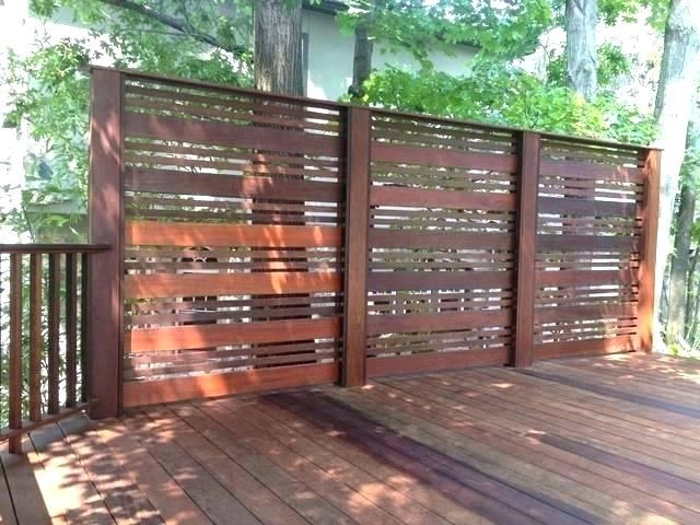 How to choose the deck privacy screens - Decorifusta