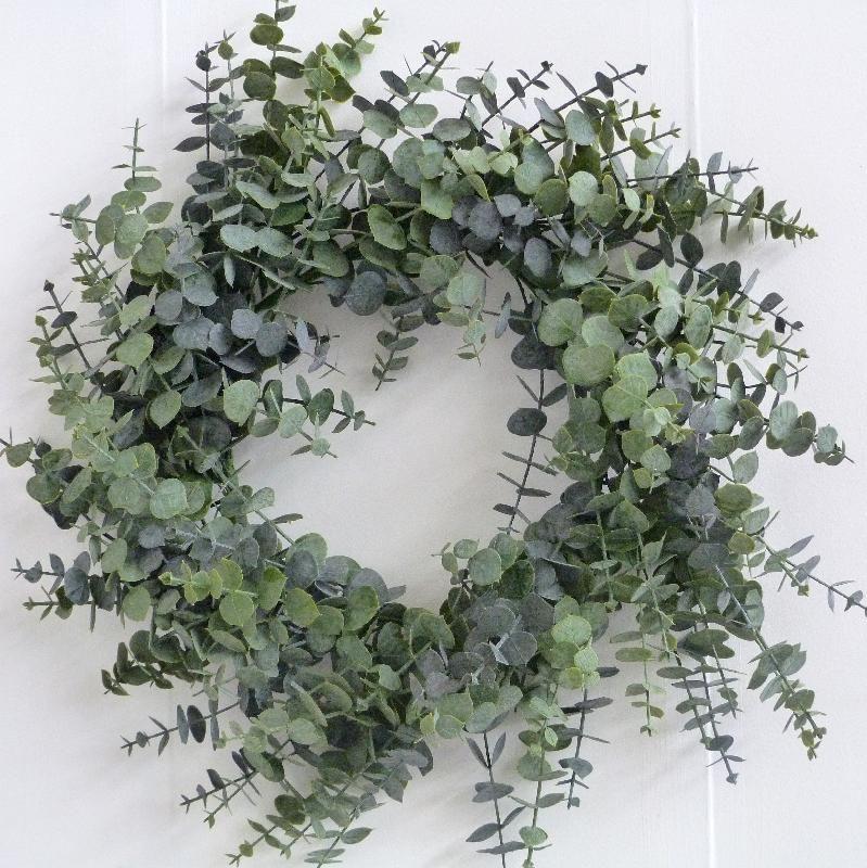 christmas wreath 60cm spiral eucalyptus wreath 2099 wholesale florist floristry supplies - Christmas Garland Wholesale