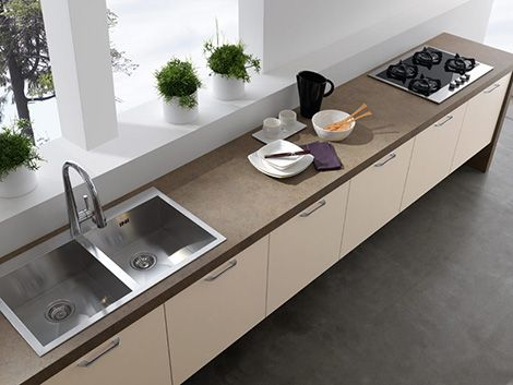 Modern Kitchens Without Upper Cabinets by Treo Results Modern