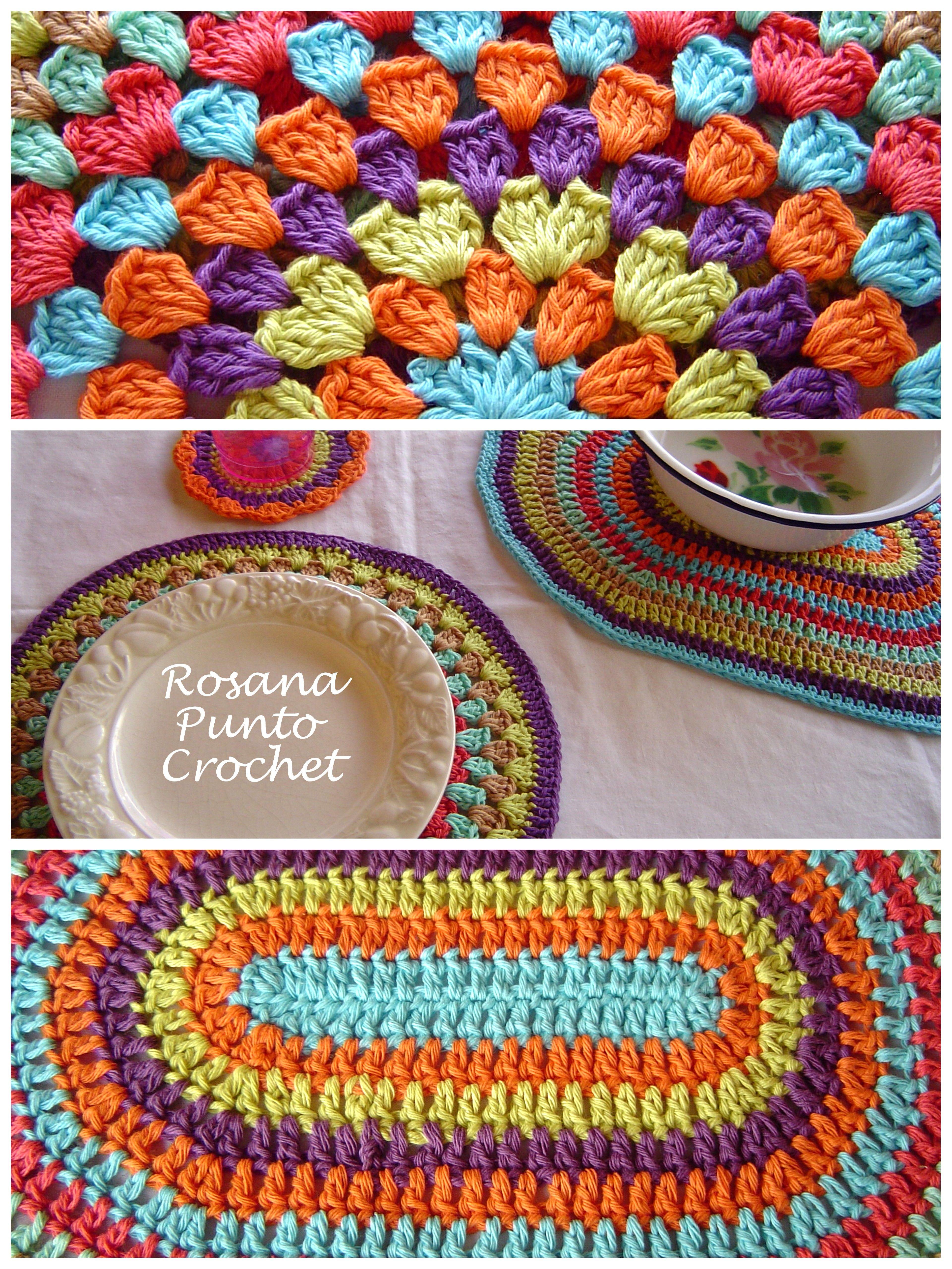 Asombroso Patrón De Crochet Trapo Plato Galería - Manta de Tejer ...