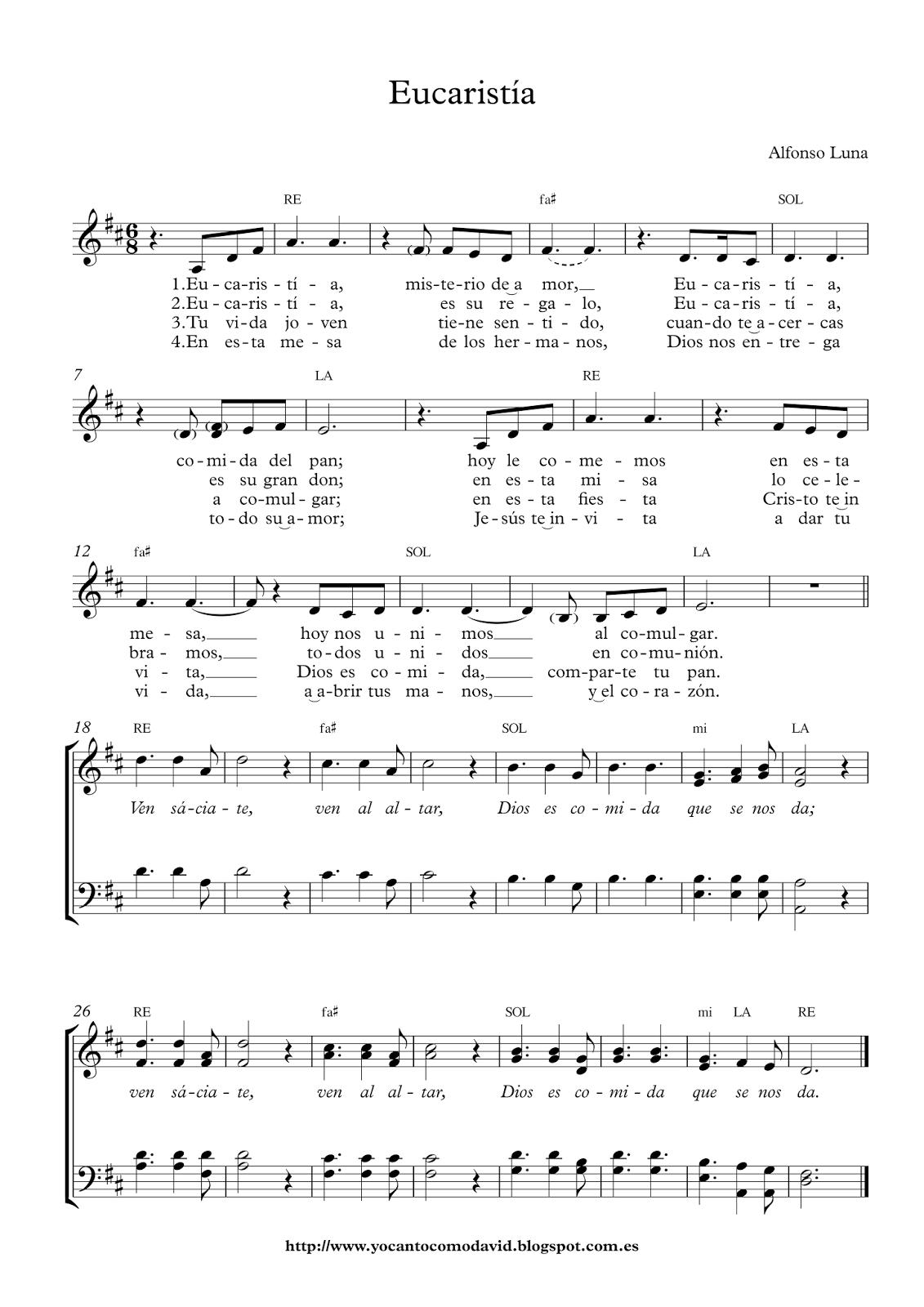Eucaristía Yo Canto Como David Teclados Musicales Lecciones De Piano Partituras