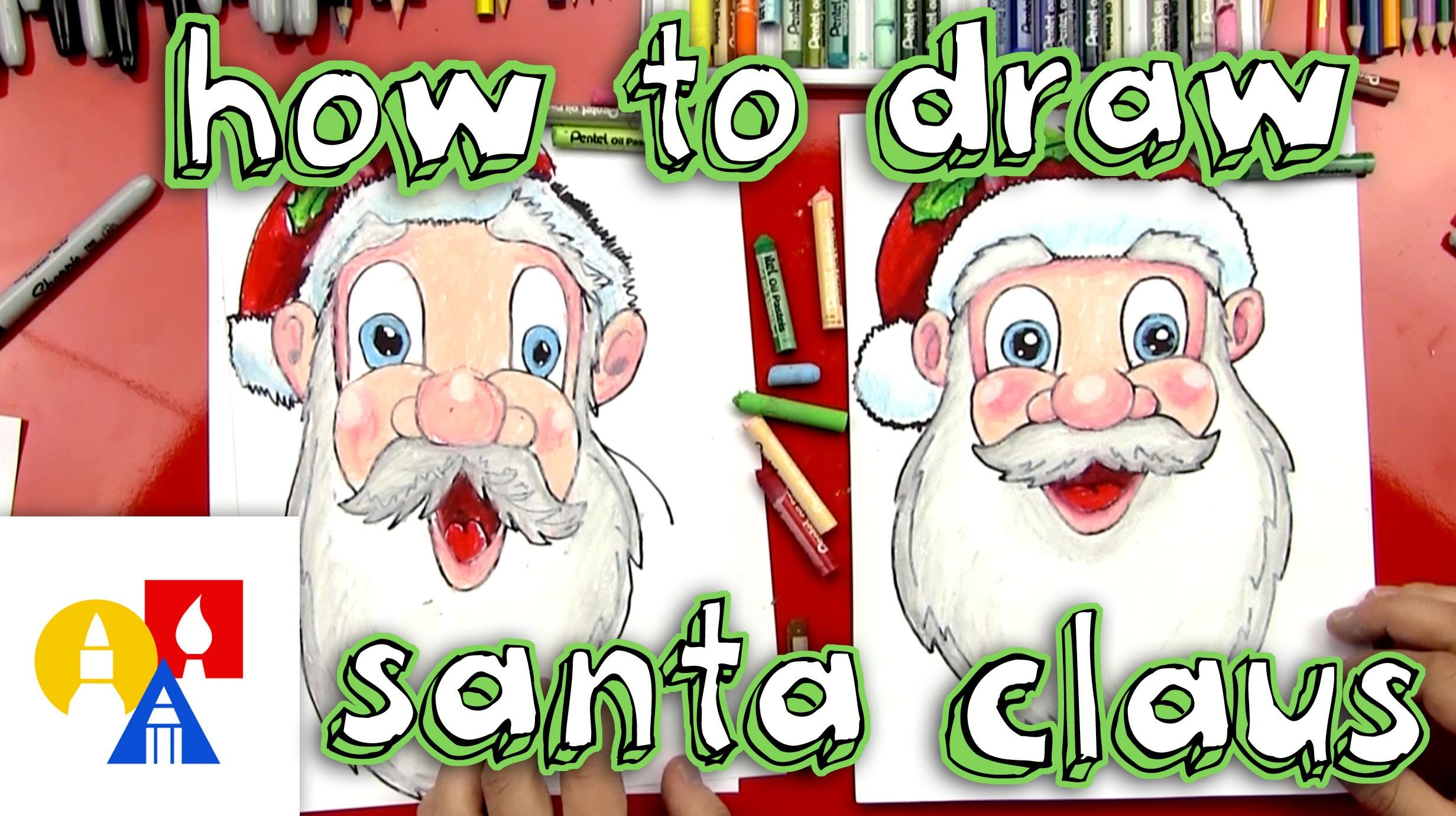 How to draw Santa Claus from Art for Kids Hub. | How to draw santa, Art for kids hub, Art ...